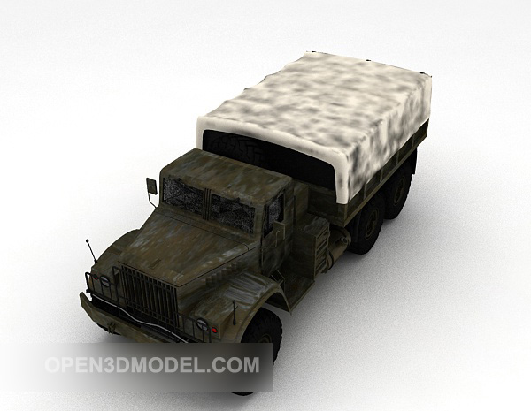 Old Military Truck Vehicle