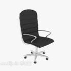 كرسي مكتب أسود متنقل