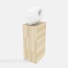 Modernes Kunsthandwerksregal aus Holz
