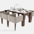 Modern Dining Table Full Set