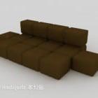 Sofa Teka-teki Moden Warna coklat gelap