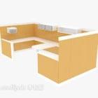Nowoczesne biurko z kawą