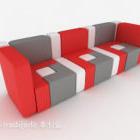 Nowoczesna sofa w jasnych kolorach