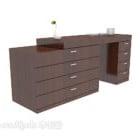 Moderner brauner Home Side Cabinet