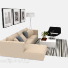 أريكة عصرية متعددة المقاعد
