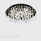 Moderni lasikruunu timantinmuotoinen