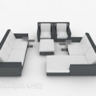 Set di divani moderni grigio-bianchi