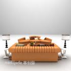 Set completo di grandi divani in pelle moderni