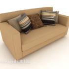 Modern Light-colored Double Sofa