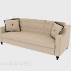 Modern Light-colored Multiplayer Sofa