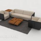 Modern Minimalist Gray-brown Sofa Sets