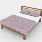 Moderne minimalistisk lilla mønstret dobbeltseng