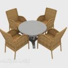 Moderne Rattan Stuhl Tisch und Stuhl Kombination