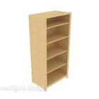 خزانة عرض خشبية صلبة بسيطة حديثة