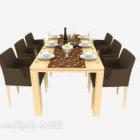 Sedia moderna da tavolo per sei persone