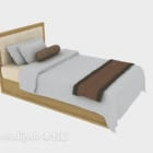 Modern Solid Wood Single Bed