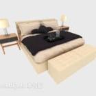 سرير مزدوج حديث المنزل المنفصل