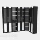 Mdf Corner Bookcase Modern Style