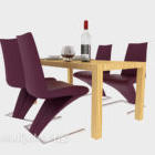 Modernt stilfullt minimalistiskt matbord
