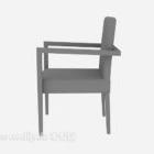 كرسي خشبي الطراز الحديث باللون الرمادي