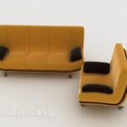 Nowoczesne żółte zestawy wypoczynkowe