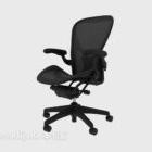 Net Cloth Black Bürostuhl