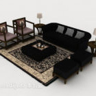 New Chinese Atmospheric Wooden Combination Sofa