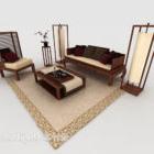 Nowa chińska sofa domowa z drewna brązowego