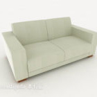 New Chinese Light-colored Double Sofa