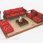 Ny kinesisk röd festlig soffa