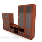 Neues Bücherregal aus Holz im chinesischen Stil