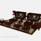 Sofa w stylu chińskim z litego drewna