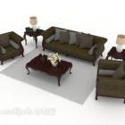 Holz-Sofa im chinesischen Stil