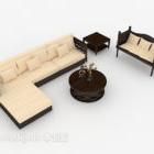 Einfaches Holzsofa im chinesischen Stil