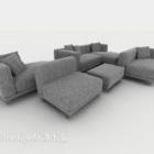 أريكة رمادية تقليدية من الشمال