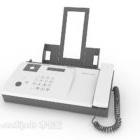 Kontors faxmaskin vit färg