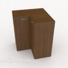 Office File Locker Wood