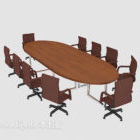 Office Round Meeting Table Chair