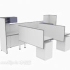 Office Small Working Desk With Divider