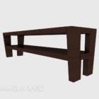 مقعد حديقة الخشب الصلب
