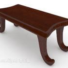 رسمت أثاث مقاعد البدلاء صغيرة خشبية