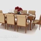 كرسي طاولة الطعام الرعوية