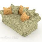 Pastoral mönsterredigering dubbel soffa