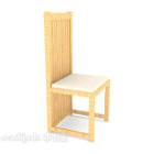 كرسي سفرة ذو طراز رعوي