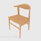 كرسي صالة الخشب الصلب النمط الرعوي