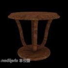 طاولة جانبية من الخشب الصلب ذات النمط الرعوي