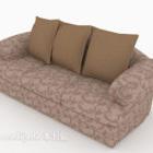 Gemustertes Stoff-Mehrsitzer-Sofa