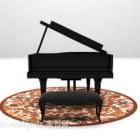 Grand Piano Instrument Black