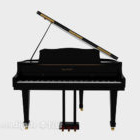 Black Grand Piano Realistic