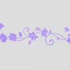 Purple mønstrede vægdekorationer